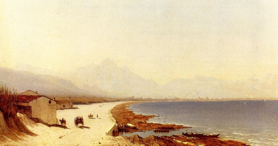 Sanford Robinson Gifford The Road by the Sea, near Palermo, Sicily