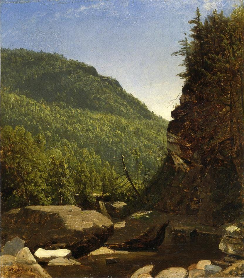 Sanford Robinson Gifford The Top of Kauterskill Falls