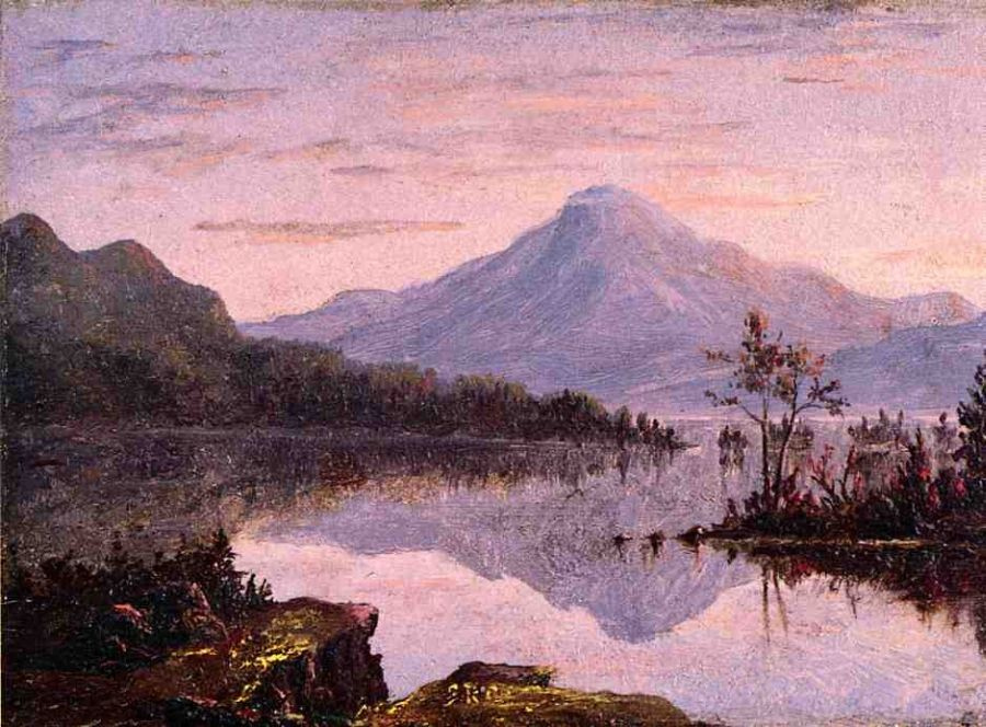 Sanford Robinson Gifford Toung Mountain, Lake George