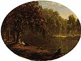 Sanford Robinson Gifford The River-Bank painting