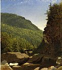 Sanford Robinson Gifford The Top of Kauterskill Falls painting
