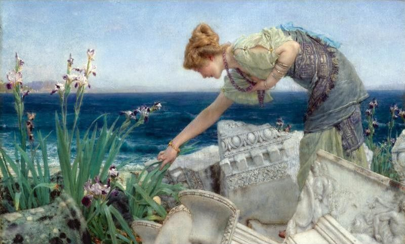 Sir Lawrence Alma-Tadema Among the Ruins