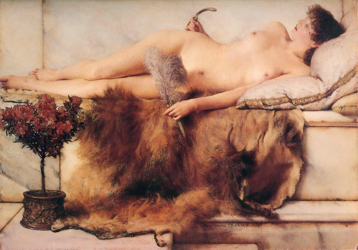Sir Lawrence Alma-Tadema In the Tepidarium
