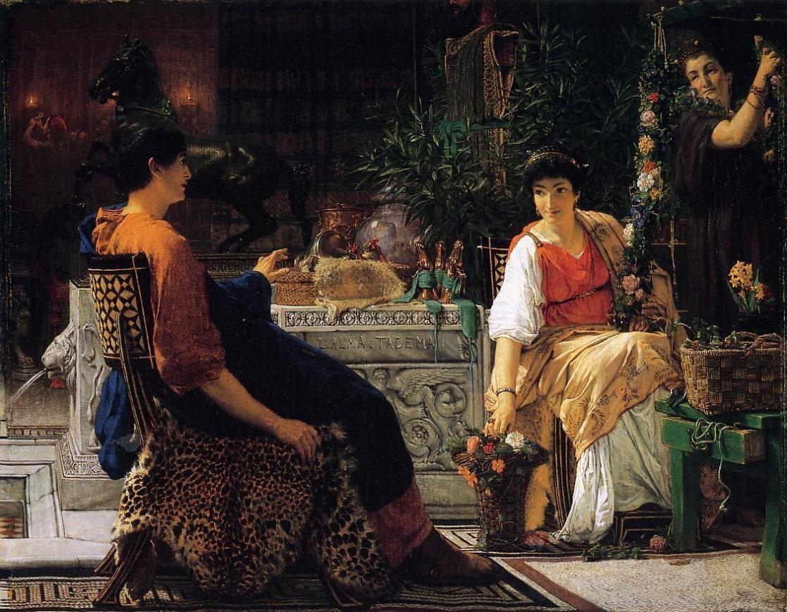 Sir Lawrence Alma-Tadema Preparations for the Festivities