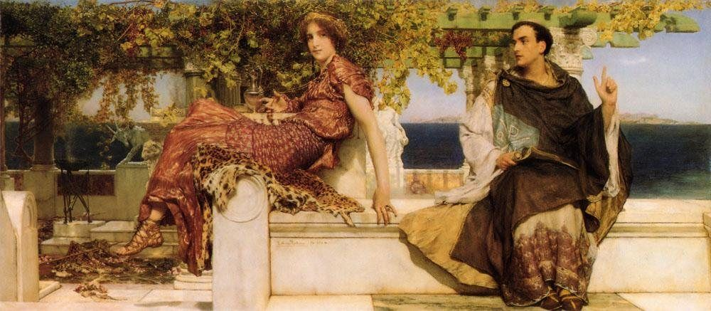 Sir Lawrence Alma-Tadema The Conversion Of Paula By Saint Jerome