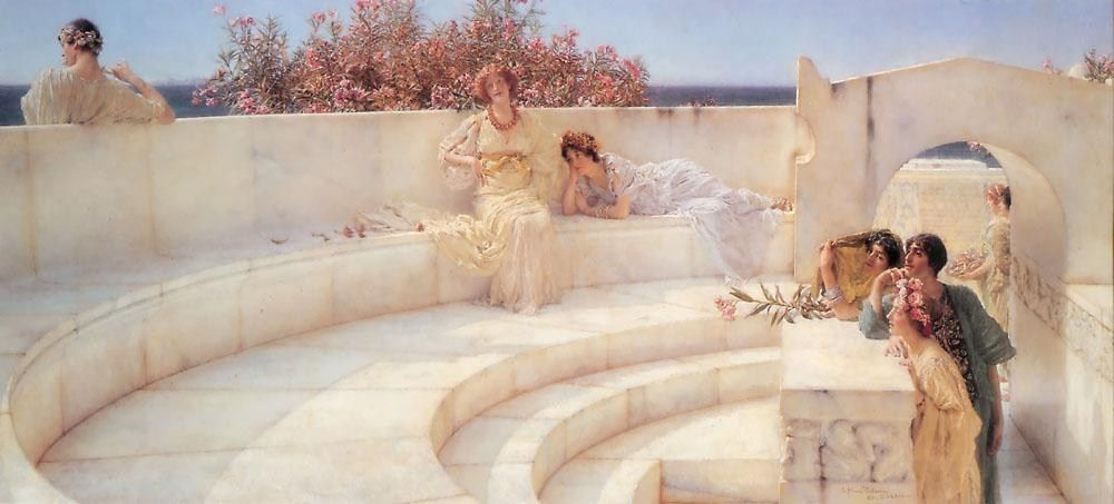 Sir Lawrence Alma-Tadema Under the Roof of Blue Ionian Weather