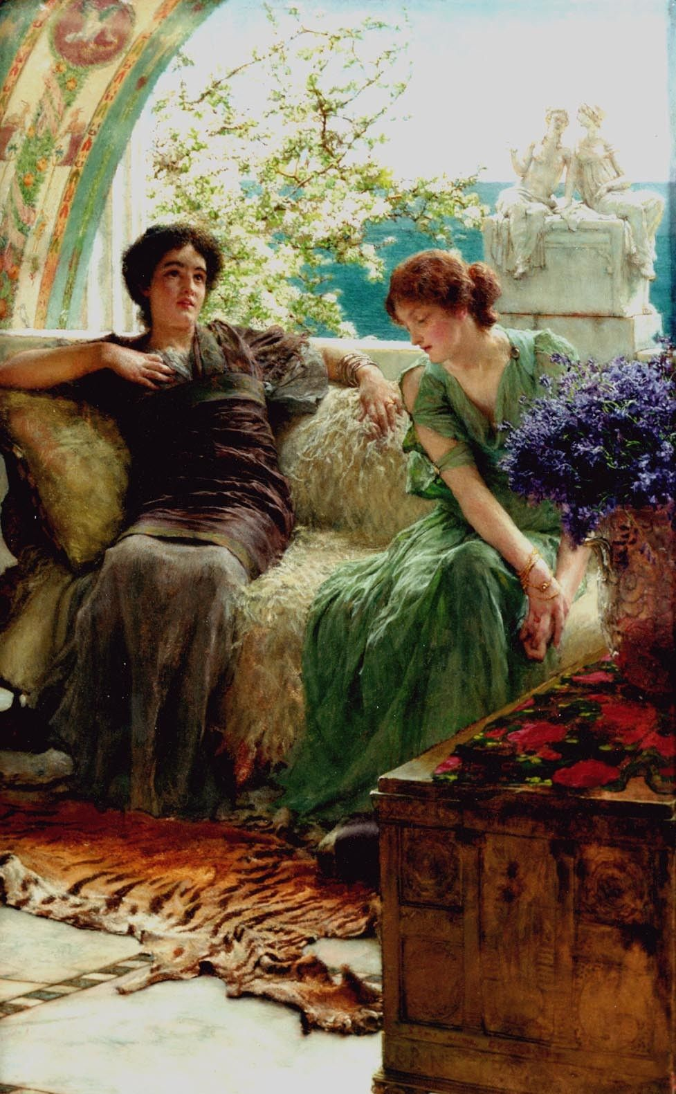 Sir Lawrence Alma-Tadema Unwelcome Confidences