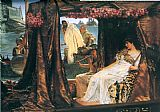 Music paintings - Antony and Cleopatra by Sir Lawrence Alma-Tadema