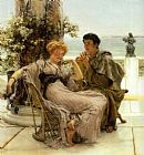Sir Lawrence Alma-Tadema Courtship the Proposal painting