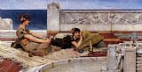 Sir Lawrence Alma-Tadema Love's Votaries painting