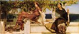 Sir Lawrence Alma-Tadema The Conversion Of Paula By Saint Jerome painting