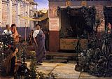 Sir Lawrence Alma-Tadema The Flower Market painting