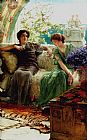 Sir Lawrence Alma-Tadema Unwelcome Confidences painting