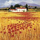 Steve Thoms Poppies field painting