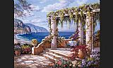 Sung Kim Floral Patio II painting