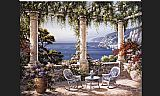 two sisters on the terrace Canvas Prints - Mediterranean Terrace