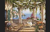 Sung Kim Morning Terrace II painting