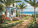 Sung Kim Summer House I painting