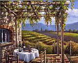 Sung Kim Vineyard Terrace painting