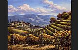 Sung Kim Vineyard Village painting