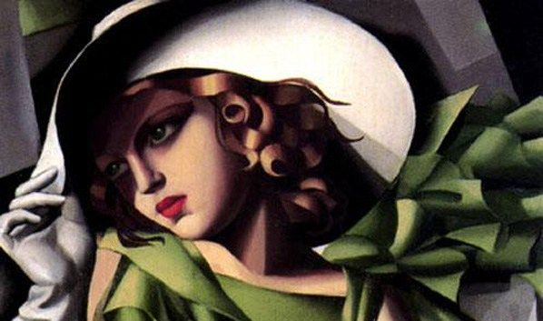 Tamara de Lempicka Girl in a Green Dress detail