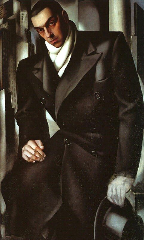 Tamara de Lempicka Portrait of Man in Overcoat
