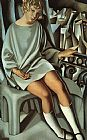Tamara de Lempicka Kizette on the Balcony painting