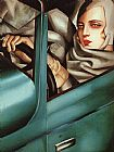 Tamara de Lempicka Self Portrait in Green Bugatti painting