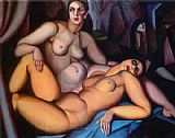 Tamara de Lempicka Two Friends painting