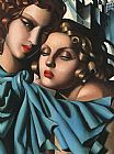Tamara de Lempicka Two Girls painting