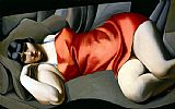 Tamara de Lempicka Woman in Red painting