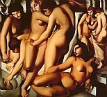 Tamara de Lempicka Women at the Bath painting