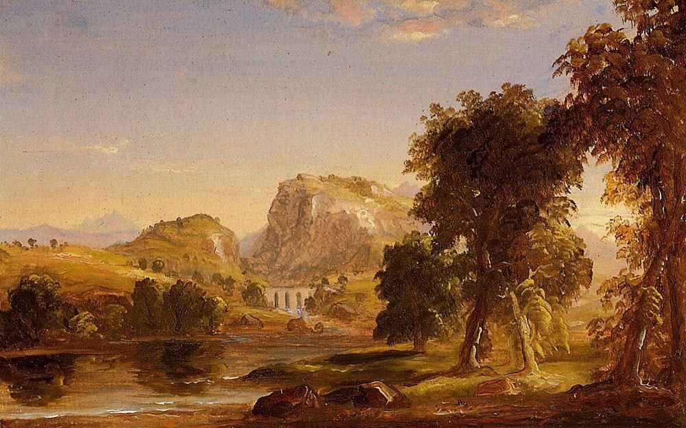Thomas Cole Sketch for Dream of Arcadia