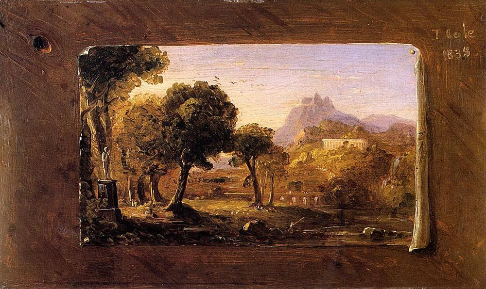 Thomas Cole Study for Dream of Arcadia