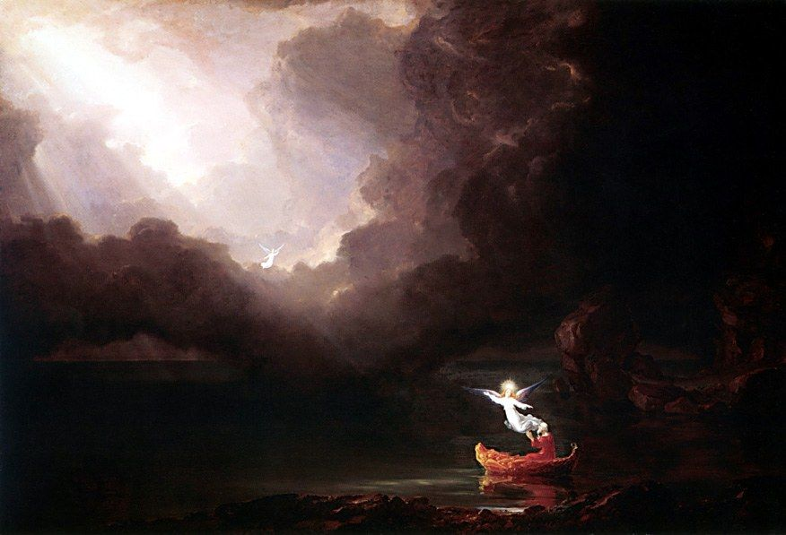 Thomas Cole The Voyage of Life Old Age