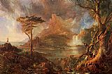Thomas Cole A Wild Scene painting
