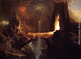 Thomas Cole Expulsion Moon and Firelight painting