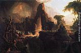 Thomas Cole Expulsion from the Garden of Eden painting