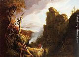 Thomas Cole Indian Sacrifice painting