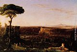 Thomas Cole Italian Scene, Composition painting