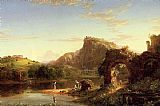 Thomas Cole L'Allegro (Italian Sunset) painting