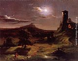 Thomas Cole Moonlight painting