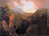 Thomas Cole Mountain Sunrise, Catskill painting