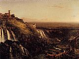 Thomas Cole The Cascatelli Tivoli Looking Towards Rome painting