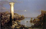 Thomas Cole The Course of Empire Desolation painting