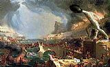 Thomas Cole The Course of Empire Destruction painting