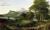 Thomas Cole The Course of Empire The Arcadian or Pastoral State painting