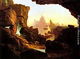 Thomas Cole The Subsiding of the Waters of the Deluge painting