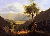 Thomas Cole View in the White Mountains painting