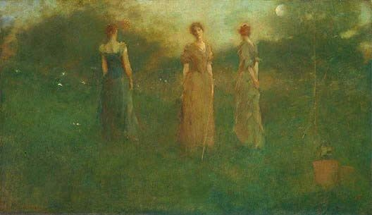 Thomas Dewing In the Garden